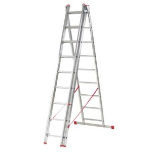 View B&Q Aluminium 3-Way Triple Combination Ladder (H) 5.92 M details