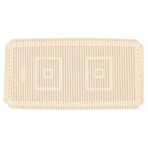 View B&Q Cream PVC Foam Bath Mat (L)690mm (W)360mm details