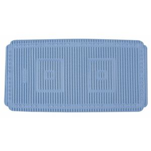 View B&Q Aquamat Blue PVC Foam Anti-Slip Bath Mat (L)690mm (W)360mm details