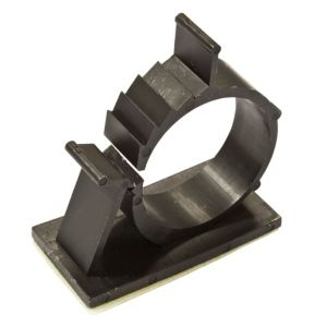 View B&Q Black 25mm Self Adhesive Cable Clips, Pack of 20 details