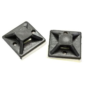 Image of B&Q Black 20mm Cable Mounts Pack of 50