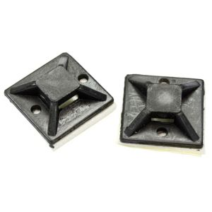Image of B&Q Black 25mm Cable Mounts Pack of 20