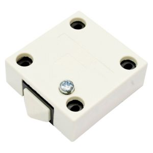 View B&Q Cream Door Operated Cabinet Switch details