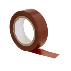 Image of B&Q Brown Electrical Tape (L)10M