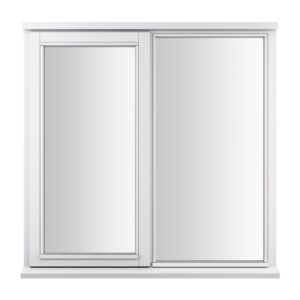 View Glazed White Timber LH Side Hung with Fixed Lite Casement Window (H)895mm (W)910mm details