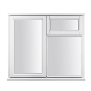 View Glazed Timber LH Side Hung with Top Vent over Fixed Lite Casement Window (H)1045mm (W)1195mm details