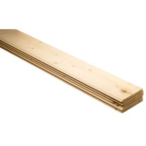 View Geom Softwood Unfinished Cladding (L)1800 mm (W)95 mm (T)7.5 mm, Pack of 5 details