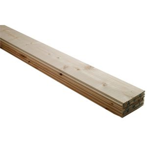 View Geom Softwood Natural Cladding (L)2400 mm (W)95 mm (T)7.5 mm, Pack of 10 details