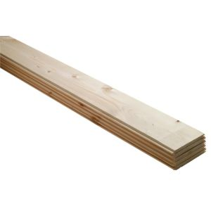 View Geom Softwood Unfinished Cladding (L)2700 mm (W)95 mm (T)7.5 mm, Pack of 5 details