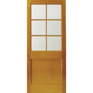 View Hatfield Hardwood Veneer Partially Glazed External Back Door, (H)1981mm (W)838mm details