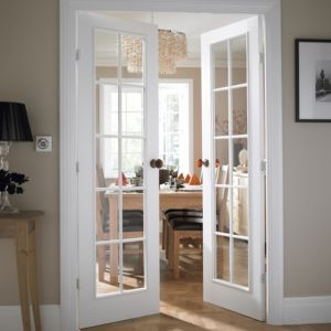 View Cadeby 10 Lite Clear Glazed Moulded Internal French French Door, (H)1981mm (W)1168mm details