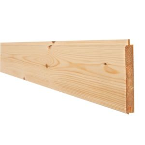 View Metsäwood Timber Cladding (W)94mm (L)2100mm (T)14mm, Pack of 4 details
