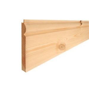 View Metsäwood Natural Redwood Torus Skirting (L)2.4m (W)144mm (T)20mm details