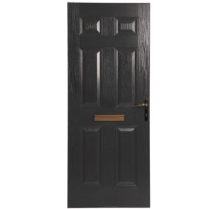 View Downing Black GRP LH Front Door & Frame (H)2055mm (W)920mm details
