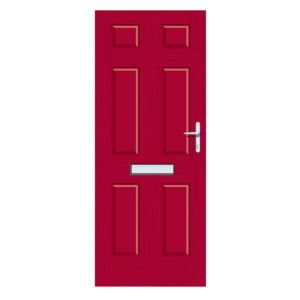 View Downing Red GRP LH Front Door & Frame (H)2055mm (W)920mm details