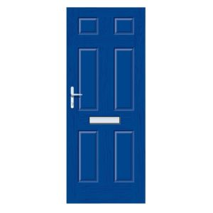 View Downing Blue GRP RH Front Door & Frame (H)2055mm (W)920mm details