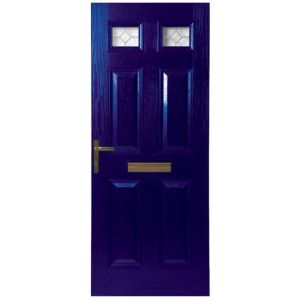 View Westminster Blue GRP Partially Glazed RH Front Door & Frame (H)2055mm (W)920mm details