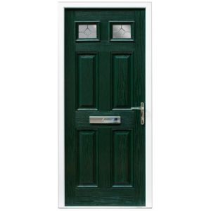 View Westminster Green GRP Partially Glazed LH Front Door & Frame (H)2055mm (W)920mm details