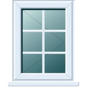 View White PVCu RH Side Hung R/H Window (H)820mm (W)620mm details