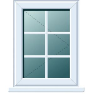 View White PVCu RH Side Hung R/H Window (H)970mm (W)620mm details