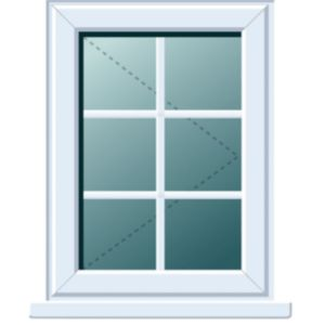 View White PVCu RH Side Hung R/H Window (H)1120mm (W)620mm details