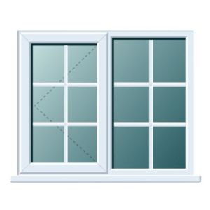 View White PVCu RH Side Hung with Fixed Lite R/H Window (H)970mm (W)1190mm details