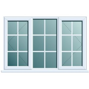 View White PVCu Double Side Hung with Centre Fixed Lite Window (H)1120mm (W)1760mm details