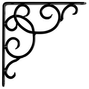 View Matt Black Steel Shelf Bracket (H)230mm (W)25mm details