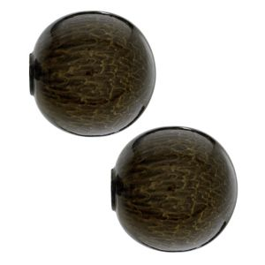 View Colours Brown Metal Ball Curtain Finial (Dia)35mm details