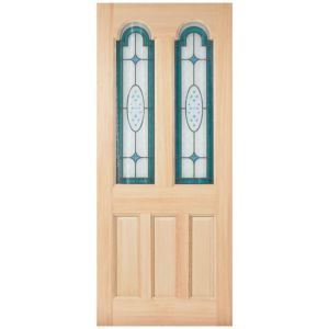 View Durridge Veneer Partially Glazed RH Front/Back Door (H)1981mm (W)762mm details