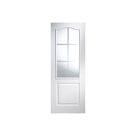 2 panel arched pre painted white woodgrain glazed internal - Pre painted white interior doors ...