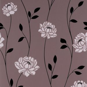 View Sienna Floral Chocolate Wallpaper details