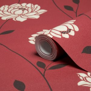 View Sienna Floral Red Wallpaper details