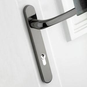 View B&Q Chrome Effect Straight External Locking Door Handle, Pack of 1 details