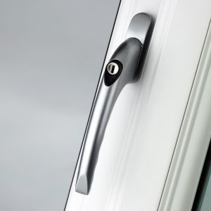 View B&Q Satin Silver Effect Window Handle details