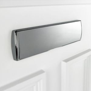 View B&Q Chrome Effect Letter Plate (H)220mm (W)350mm details