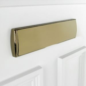 View B&Q Gold Effect Letter Plate (H)220mm (W)350mm details