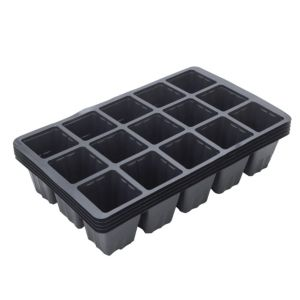 View B&Q Black Plastic 15 Seed Tray, Pack of 5 details