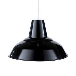 Image of Tezz Gloss Black Light shade (D)290mm