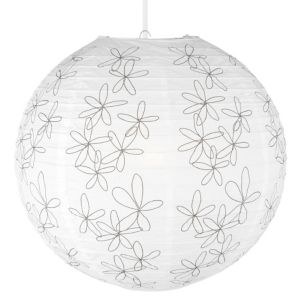 View Lights By B&Q Scribble White Printed Flower Light Shade details
