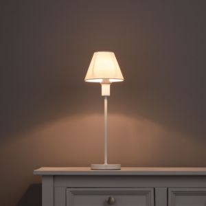 Image of Weave Cream Linen effect Candle Light shade (D)150mm