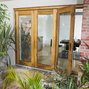 View Wellington Timber Glazed Sliding & Folding Patio Door Set, (H)2105mm (W)2105mm details