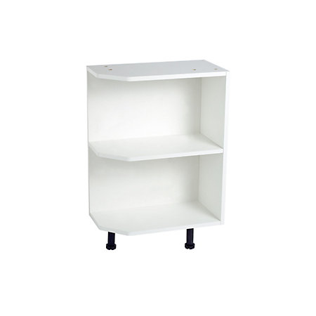 Cooke lewis black white open end base unit carcass w for Kitchen base unit shelf