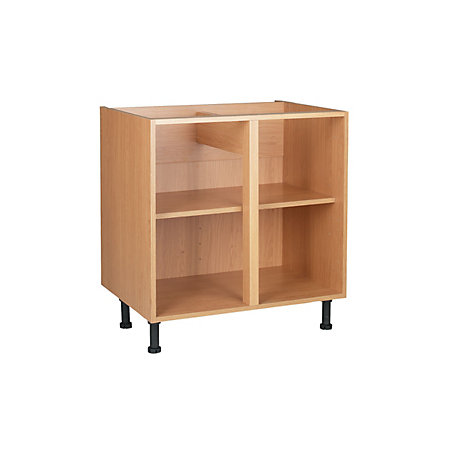 Cooke lewis oak effect standard base cabinet unit for Kitchen cabinets 900mm wide