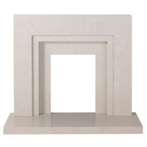 View Marella Cream Micro Marble (H)1.015 (W)1.167m Surround Set details