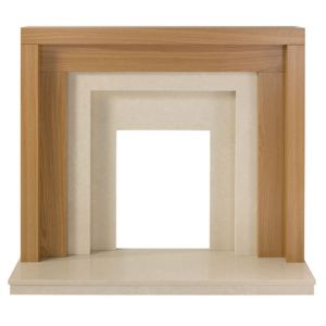 View Rochester Cream Oak Effect (H)1.12 (W)1.22m Surround Set details
