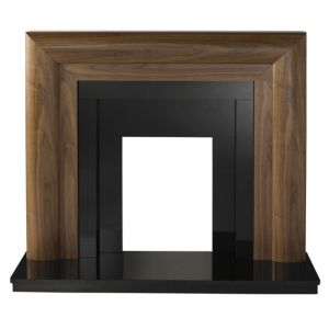 View Beaumont Walnut Veneer Black Granite Fire Surround Set details