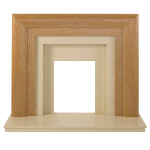 View Beaumont Oak Veneer Brown Marfil Fire Surround Set details
