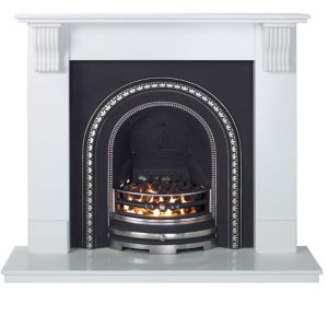 View Aurora Victoria White Electric Inset Fire Suite details