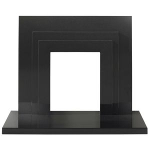 View Milan Black Granite (H)949 (W)1.117m Surround Set details